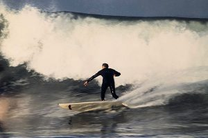 Bob Mignogna surfing his longtime favorite surf break, Lower Trestles at San Onofre State Beach in Southern California.