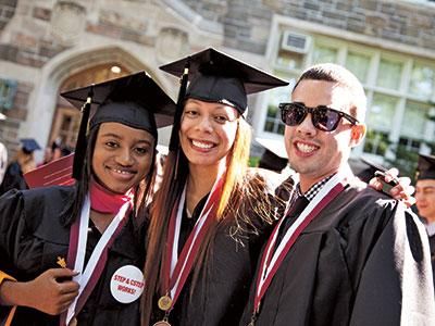 Fordham CSTEP graduates at the 2012 commencement.