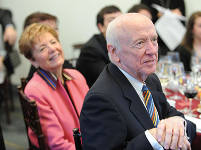 Robert E. Campbell (right) and his wife, Joan M. Campbell. Photo by Chris Taggart