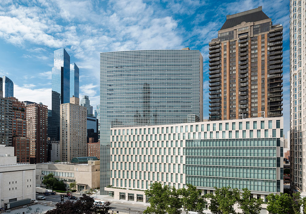 The 22-story Fordham Law School and McKeon Residence Hall opened in 2014. Photo by Paul Warchol