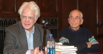 James Marsh sitting next to Ddaniel Berrigan