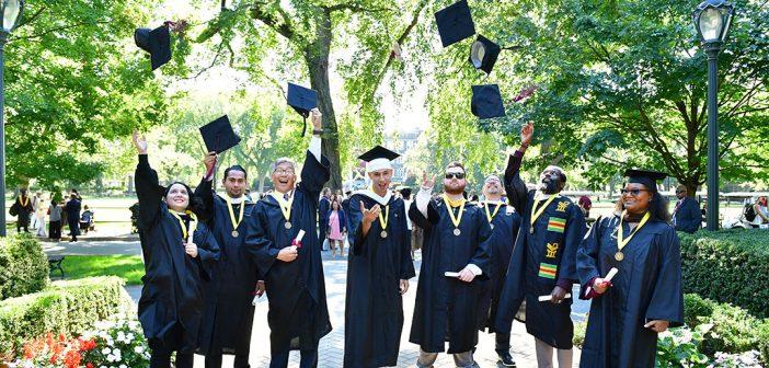 Fordham Students Reunite for In-Person Graduation Ceremonies