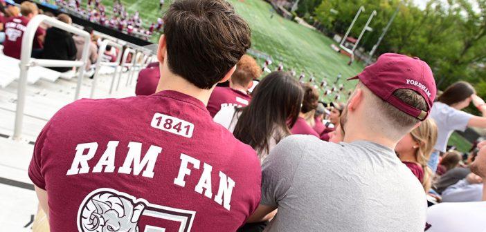 Fans watch football